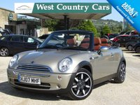 USED 2007 07 MINI CONVERTIBLE 1.6 COOPER SIDEWALK 2d 114 BHP Low Mileage Mini Convertible