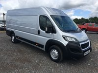 USED 2018 18 PEUGEOT BOXER 435 PROFESSIONAL L4H2 BLUE HDI PANEL VAN IN SILVER