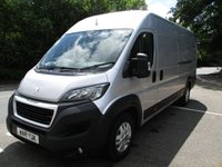 2018 PEUGEOT BOXER XLWB 435 L4 H2 Professional 130ps (Rear Camera, Leather Steering Wheel, Overhead Cabin Storage, Alloys, Auto Lights/Wipers, Front Fogs, LED DRL's, Folding Mirrors, Heated Drivers Seat) £15750.00