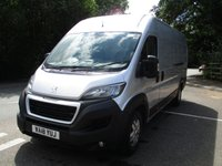 2018 PEUGEOT BOXER XLWB 435 L4 H2 Professional 130ps (Rear Camera, Leather Steering Wheel, Overhead Cabin Storage, Alloys, Auto Lights/Wipers, Front Fogs, LED DRL's, Folding Mirrors, Heated Drivers Seat) £14995.00