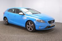 USED 2013 13 VOLVO V40 2.0 D4 R-DESIGN LUX NAV 5DR SAT NAV HEATED LEATHER SEATS 177 BHP FULL SERVICE HISTORY + £30 12 MONTHS ROAD TAX + HEATED LEATHER SEATS + SATELLITE NAVIGATION + PARKING SENSOR + BLUETOOTH + CRUISE CONTROL + CLIMATE CONTROL + MULTI FUNCTION WHEEL + XENON HEADLIGHTS + DAB RADIO + ELECTRIC WINDOWS + RADIO/CD/USB + ELECTRIC MIRRORS + 17 INCH ALLOY WHEELS