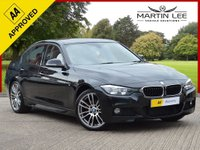 USED 2015 65 BMW 3 SERIES 2.0 320D M SPORT 4d 188 BHP M SPORT WITH CONTRASTING RED LEATHER