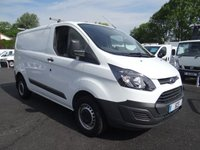 USED 2015 15 FORD TRANSIT CUSTOM 290 L1 SWB 2.2 TDCI 100 BHP Direct From Leasing Company with Only 37000 Miles And Full Service History (4 Stamps To 37k), Many Extras Including Air Con!