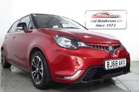 USED 2018 68 MG 3 1.5 STYLE PLUS VTI-TECH 5d 106 BHP A beautiful low mileage MG3 Style +Only 6641 mile with Air conditioning, cruise control, tyre pressure monitoring, navigation option fitted  and DAB radio. We have no administration fees to pay when you buy his car. Hire purchase and PCP finance are available on this vehicle. Just get in touch or apply on our website. Extended warranties are also available. Ask about our FREE MOT FOR LIFE OFFER.
