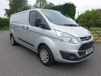 USED 2016 16 FORD TRANSIT CUSTOM 330 TREND L2 LWB 2.2 TDCI 125 BHP Rare 3.3 Tone GVW Model With Many Added Extras Including Twin Side Doors, Sat Nav, Reversing Camera & Air Con!