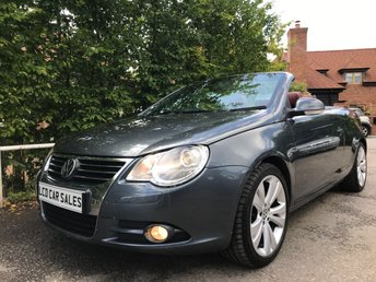 2008 VOLKSWAGEN EOS 2.0 SPORT TDI AUTOMATIC - FULL SERVICE HISTORY - 7 DEALER STAMPS & A NEW CAMBELT @ 75,096 MILES £3990.00