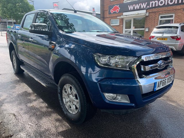 """USED 2016 66 FORD RANGER 2.2 TDCi 150 4WD 16"""" ALLOY WHEELS, TOW BAR, SIDE STEPS, 4X ELECTRIC WINDOWS, ELECTRIC POWER FOLD MIRRORS, AIR CONDITIONING, RADIO/CD/MULTI MEDIA, TELEPHONE CONNECTIVITY, USB/AUX/12V POWER SOCKETS (2 FRONT + 1 REAR), 2X CUP HOLDERS, AUTO LIGHTS, CRUISE CONTROL."""