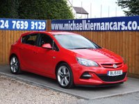 2015 VAUXHALL ASTRA 1.4 LIMITED EDITION 5d 140 BHP £6495.00