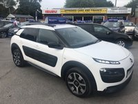 2015 CITROEN C4 CACTUS 1.6 BLUEHDI FLAIR 5d 98 BHP IN METALLIC WHITE WITH FULL SERVICE HISTORY, 1 OWNER AND ONLY 50000 MILES  £6999.00