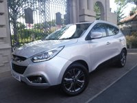 USED 2014 14 HYUNDAI IX35 1.7 SE CRDI 5d 114 BHP ****FINANCE ARRANGED****PART EXCHANGE WELCOME***PART LEATHER*HEATED SEATS*SERVICE HISTORY*BTOOTH*USB*AUX