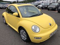 USED 2003 03 VOLKSWAGEN BEETLE 1.6 8V 3d 101 BHP Sunflower Yellow, glass runoff, low miles with service history