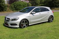 USED 2013 63 MERCEDES-BENZ A CLASS 2.0 A250 BLUEEFFICIENCY ENGINEERED BY AMG 5d AUTO 211 BHP SUPERB A M G A 250 TURBO PETROL 29K MILES FULL DEALER HISTORY