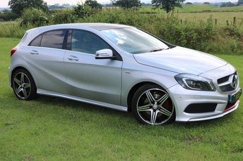 2013 MERCEDES-BENZ A CLASS 2.0 A250 BLUEEFFICIENCY ENGINEERED BY AMG 5d AUTO 211 BHP £15900.00