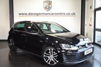 "USED 2016 16 VOLKSWAGEN GOLF 2.0 GTD DSG 5d AUTO 182 BHP excellent service history * NO ADMIN FEES * FINISHED IN STUNNING BLACK WITH SPORT UPHOLSTERY + EXCELLENT SERVICE HISTORY + SATELLITE NAVIGATION + BLUETOOTH + HEATED SEATS + DAB RADIO + CRUISE CONTROL + HEATED ELECTRIC FOLDING MIRRORS + PARKING SENSORS + 18"" ALLOY WHEELS"
