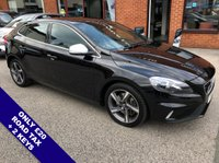 """USED 2015 15 VOLVO V40 2.0 D4 R-DESIGN LUX NAV 5DOOR AUTO 188 BHP ONLY £20 Road Tax   :   DAB Radio   :   Sat Nav   :   USB Socket   :   Car Hotspot / WiFi      Cruise Control / Speed Limiter   :   Bluetooth   :   Climate Control / Air Conditioning      R-Design Steering Wheel       :       Full Black Leather Upholstery       :       17"""" Alloy Wheels      Full Volvo Service History"""