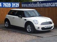 2012 MINI HATCH ONE 1.6 ONE 3d 98 BHP £5695.00
