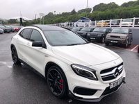 USED 2016 16 MERCEDES-BENZ GLA-CLASS 2.0 AMG GLA 45 4MATIC PREMIUM 5d AUTO 375 BHP Panoramic sunroof, Aero-Kit, Night Pack, 20 inch, switchable exhaust ++