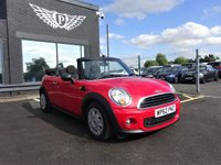 USED 2013 62 MINI CONVERTIBLE 1.6 ONE 2d 98 BHP AA WARRANTY,  MOT AND SERVICE INCLUDED