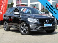 "USED 2015 15 VOLVO XC60 2.0 D4 R-DESIGN NAV 5d 188 BHP STUNNING, £30 ROAD TAX, Volvo XC60 2.0D R-DESIGN NAV D4. Finished in Black Sapphire metallic with Black R-Design Nubuck textile/ leather trim. This upmarket family SUV is stylish, comfortable and great fun to drive. Features include 5 spoke Ixion 18"" diamond cut / grey alloys, Park Sensors, Rear View Camera, Sat Nav, Only £30 road Tax, DAB and much more. Volvo dealer serviced at 3158 miles, 39989 miles, 57557 miles, 69909 miles and recently at 88036 miles."
