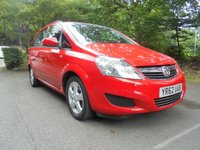 USED 2012 62 VAUXHALL ZAFIRA 1.6 EXCLUSIV 5d 113 BHP SUPPLIED WITH 12 MONTHS WARRANTY