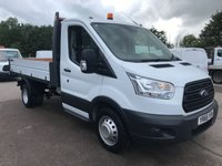 USED 2016 66 FORD TRANSIT 350 125PS SINGLE CAB FACTORY TIPPER **VERY LOW MILES**