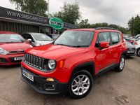 2016 JEEP RENEGADE 1.4 LONGITUDE 5d 138 BHP £10489.00