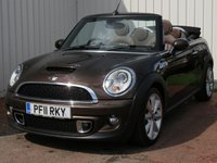 USED 2011 11 MINI CONVERTIBLE 1.6 COOPER S 2d AUTO 184 BHP CONVERTIBLE