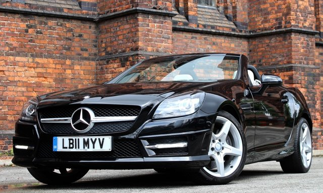 2011 11 MERCEDES-BENZ SLK 3.5 SLK350 BLUEEFFICIENCY AMG SPORT 2d AUTO 306 BHP