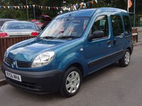 2006 RENAULT KANGOO 1.2 16v 5dr, WHEELCHAIR ACCESS VEHICLE £3295.00
