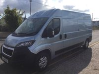2018 PEUGEOT BOXER LWB 335 L3 H2 Professional 130ps (Rear Camera, Leather Steering Wheel, Overhead Cabin Storage, Alloys, Auto Lights/Wipers, Front Fogs, LED DRL's, Folding Mirrors, Heated Drivers Seat) £15250.00
