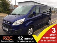 2018 FORD TOURNEO CUSTOM 310 L2 Titanium 170ps AUTO (Sat Nav, Leather, 9-seats) (Pre-MCA) £21000.00