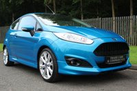 USED 2016 16 FORD FIESTA 1.0 ZETEC S 3d 124 BHP CANDY BLUE EXCLUSIVE PAINT AND FORD DEALER SERVICE HISTORY!!!