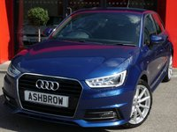 USED 2016 65 AUDI A1 SPORTBACK 1.6 TDI S LINE 5d 115 S/S £1985 OF OPTIONAL EXTRAS, UPGRADE TECHNOLOGY PACK INCLUDING MMI NAVIGATION PLUS AUDI MUSIC INTERFACE (AMI) AND BLUETOOTH PHONE PREP HIGH WITH MUSIC STREAMING, UPGRADE LASER BLUE AIR VENT SLEEVES,  LED XENON HEADLIGHTS, FRONT FOG LIGHTS, S LINE BODY KIT, 17 INCH 10 SPOKE ALLOYS, BLACK 1/2 LEATHER INTERIOR, SPORT SEATS, LEATHER MULTIFUNCTION STEERING WHEEL, AIR CONDITIONING,  DRIVE SELECT, DAB RADIO, ILLUMINATING VANITY MIRRORS, ALUMINIUM PEDALS, TYRE PRESSURE MONITOR. 1 OWNER, FULL HISTORY, £0RFL