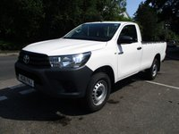 2018 TOYOTA HI-LUX Single Cab 2.4 Active 4WD 150ps £14995.00