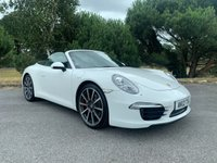 USED 2012 12 PORSCHE 911 [991] 3.8 CARRERA S PDK 2d AUTO 991 CONVERTIBLE  STUNNING 991 CAB IN WHITE WITH BLK HEATED LEATHER SOORTS CHRONO BOSE DESIGN PACK PARK ASSIST FULL PORSCHE SH