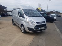 2015 FORD TRANSIT CUSTOM 2.2L 310 TREND LR PANEL VAN  124 BHP AIRCON BLUETOOTH FRONT AND REAR PARKING SENSORS £3000 WORTH OF INTERNAL RACK WITH POWER INVERTER AND MUCH MORE £9295.00