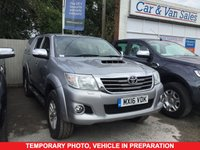 USED 2016 16 TOYOTA HI-LUX 3.0 INVINCIBLE 4X4 D-4D 5 Seat Double Cab Lifestyle Pickup AUTO with Massive High Spec inc Rear Canopy Side Steps Roof Bars Sat Nav Reversing Camera a Full Service History Recent Service and MOT and Ready to Drive Away Today THE PERFECT DOUBLE CAB PICK UP WITH REAR CANOPY SIDE STEPS