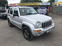 2005 JEEP CHEROKEE 2.8 LIMITED CRD 5d AUTO 148 BHP IN METALLIC SILVER WITH 96000 MILES. TRADE CLEARANCE £1750.00