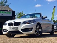 USED 2016 66 BMW 2 SERIES 1.5 218I SPORT 2d AUTO 134 BHP ONE PREVIOUS OWNER, SAT NAV, LEATHER, HEATED SEATS, BLUETOOTH, CRUISE CONTROL, CLIMATE CONTROL, PARKING SENSORS, 2 SERVICES