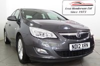 USED 2012 12 VAUXHALL ASTRA 1.6 ACTIVE 5d 113 BHP Key Specification includes: Air Conditioning, Central Locking, Electric Front Windows, Bluetooth Connectivity, Power Steering, Driver & Passenger Airbag and much more. The highest standard of service is offered to all our customers from our wide range of high quality used car stock., At Fred Henderson we have an extensive range of quality Used Cars.