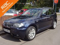 USED 2006 56 BMW X3 2.0 D M SPORT 5dr 4X4, PARKING SENSORS *CREAM LEATHER*CLIMATE*CRUISE*HISTORY*NEW MOT*