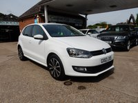 USED 2013 63 VOLKSWAGEN POLO 1.2 MATCH EDITION 5d 69 BHP GOOD HISTORY,TWO KEYS,PARK AID,AIR CON,BLUETOOTH,AUX PORT