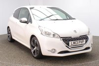 USED 2013 13 PEUGEOT 208 1.6 THP GTI LIMITED EDITION 3DR 200 BHP HALF LEATHER SEATS + SATELLITE NAVIGATION + PARKING SENSOR + BLUETOOTH + CRUISE CONTROL + CLIMATE CONTROL + MULTI FUNCTION WHEEL + DAB RADIO + ELECTRIC WINDOWS + ELECTRIC MIRRORS + 17 INCH ALLOY WHEELS