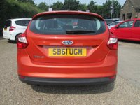 USED 2012 61 FORD FOCUS 1.6 ZETEC 5d 104 BHP £970 OF FACTORY FITTED OPTIONS