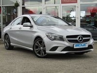 USED 2014 63 MERCEDES-BENZ CLA 1.6 CLA180 SPORT 4d 122 BHP STUNNING, 1 OWNER, MERCEDES CLA 180 SPORT 2.1 D 122 BHP. Finished in POLAR SILVER Metallic with contrasting Part LEATHER SPORTS interior. This four door coupe is like a stylish mini CLS. It has a big boot and high tech saftety features inc Front and Rear Park Sensors. Other features inc SAT NAV, B/TOOTH Alloys, Part Leather, Cruise and much more.