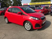 USED 2016 16 PEUGEOT 108 1.0 ACTIVE 3d 68 BHP IN METALLIC RED WITH 19,000 MILES AND A FULL SERVICE HISTORY! APPROVED CARS AND FINANCE ARE PLEASED TO OFFER THIS PEUGEOT 108 1.0 ACTIVE 3 DOOR 68 BHP IN METALLIC RED WITH 19,000 MILES AND A FULL SERVICE HISTORY. THIS VEHICLE HAS GOT A GREAT SPEC SUCH AS ELECTRIC WINDOWS, ELECTRIC MIRRORS, BLUETOOTH, AIR CONDITIONING, RADIO AND MUCH MORE. THIS VEHICLE IS THE PERFECT FIRST TIME DRIVER VEHICLE DUE TO HOW ECONOMICAL THE VEHICLE IS AND ALSO VERY COST FRIENDLY DUE TO THE LOW INSURANCE GROUP AND TAX BAND.