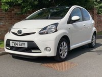 USED 2014 14 TOYOTA AYGO 1.0 VVT-I MODE 5d 68 BHP FULL TOYOTA SERVICE HISTORY, 2 OWNERS, 1YR MOT, £0 ROAD TAX, ALLOYS, FOGS, RADIO CD, E/WINDOWS, R/LOCKING, FREE WARRANTY, FINANCE AVAILABLE, HPI CLEAR, PART EXCHANGE WELCOME,