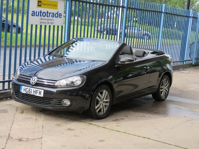 USED 2011 61 VOLKSWAGEN GOLF 1.6 S TDI BLUEMOTION TECHNOLOGY 2dr Convertible Electric roof Alloys Diesel Convertible ,Just £30 tax