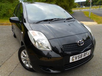 2008 TOYOTA YARIS 1.3 TR VVTI 5d 86 BHP ** ONE PREVIOUS OWNER, GROUP 6 INSURANCE ,2 KEYS, YES ONLY 69K, PART EXCHANGE TO CLEAR ** £2995.00
