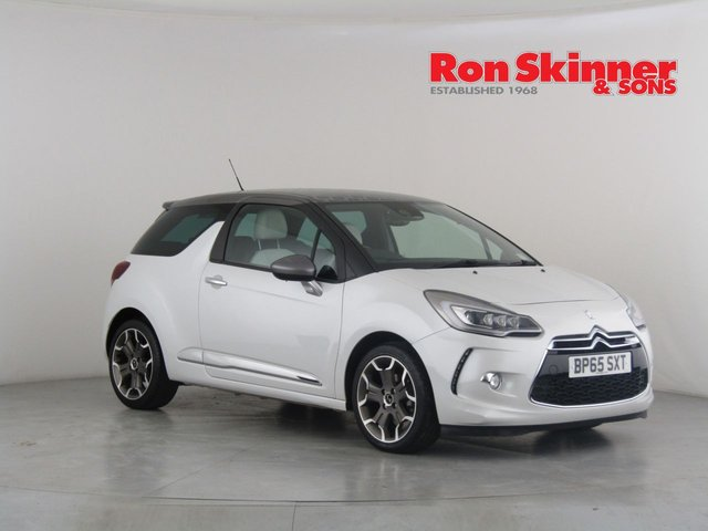 View our 2016 65 DS DS 3 1.6 BLUEHDI ULTRA PRESTIGE S/S 3d 118 BHP with Silver Roof